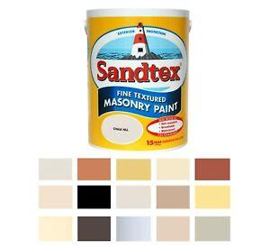 Sandtex Masonry Paint 5L Fine Textured Quality Waterproof 15