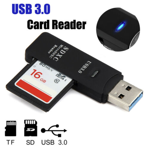 Multi Card Reader All in one USB 3.0 Micro SD//SDXC TF Card Reader Adapter Black