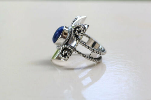 Lapis Lazuli Ring 925 Solid Sterling Silver Handmade Ring US-LPS-016