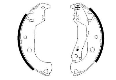 BRAND NEW 5 YEAR WARRANTY GENUINE Mintex Rear Brake Shoe Set MFR515