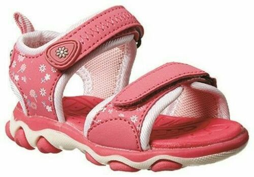 Girls Toddler Shoes Grosby Alex Pink//White Surf Sandals Size 3-7 Hook and Loop