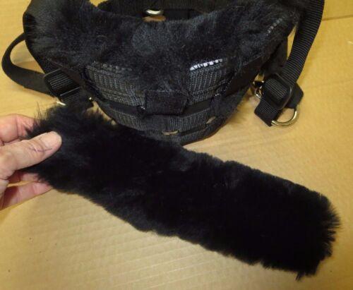 PONY Size Sheepskin Noseband Pad fits Best Friend Horse Grazing Muzzle others