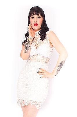 Penny Lane Dress in White Wedding Birthday Formal Vintage Inspired 6 8 10 12