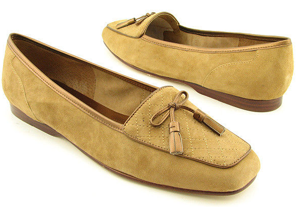 New ENZO ENZO ENZO ANGIOLINI Women Suede Tan Flat Slip On Dress Pump Loafer shoes Sz 10 M 299044