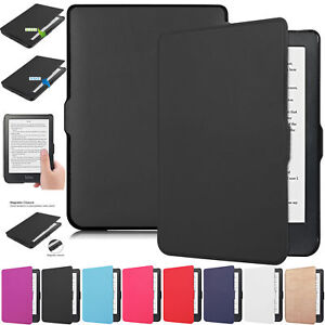 Kobo-Clara-HD-2018-Auto-Wake-Sleep-Smart-eReader-Magnetic-Leather-Case-Cover-US