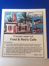 Blair Line O Scale Fred & Red's Cafe Laser Cut Kit  # 290 Bob The Train Guy