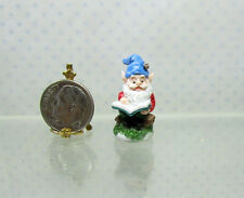 Dollhouse Miniature Terrarium Tiny Gnome Reading A4529