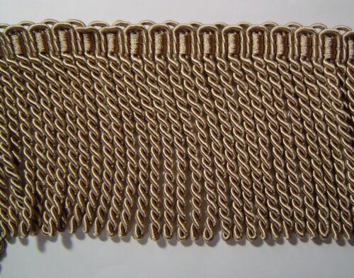 """4.75/"""" Bullion fringe Trim light golden brow match Tassel Fringe AE343B-A4"""