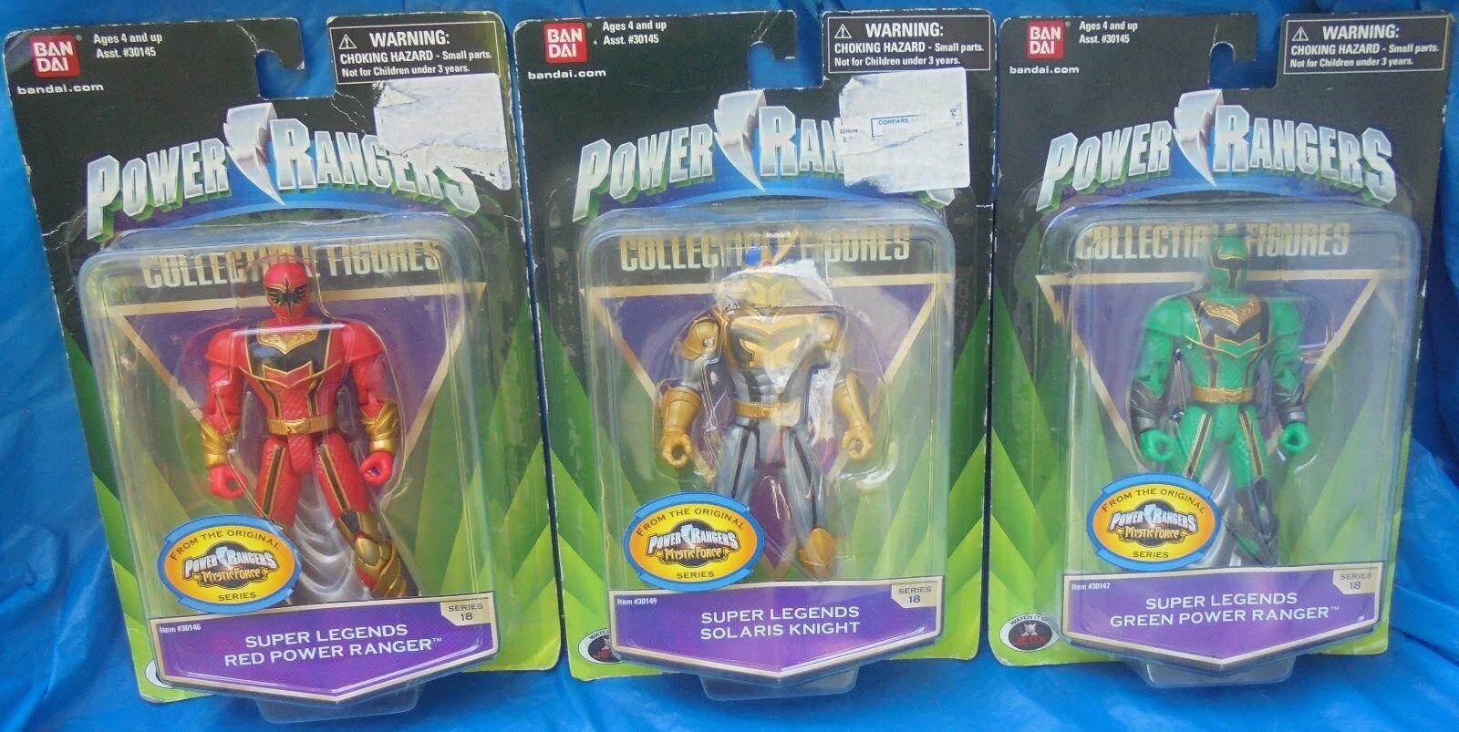 Power Rangers Super Legends Mystic Force MOC MIP Lot Bandai ROT Grün Solaris