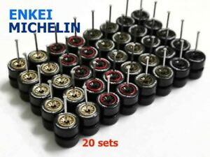 1-64-tires-Enkei-Michelin-mix-fit-Tomica-Hot-Wheels-Datsun-diecast-20-sets-Z