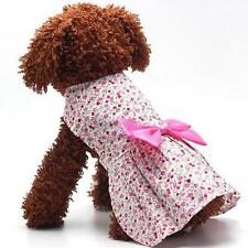 Dog Cat Tutu Dress Lace Skirt Pet Puppy Dog Costume Apparel Clothes Red
