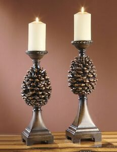 Pine-Ridge-Pinecone-Candleholders-Cone-Candle-Holders-Rustic-Cabin ...