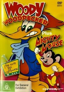 Ff8-Brand-New-Sealed-Woody-Woodpecker-Plus-Mighty-Mouse-DVD-All-R-All-Rare