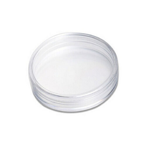 New 10pcs 19mm Clear Round Cases Coin Storage Capsules Holder Round Plastic HICA