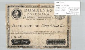 France 500 Books 1790 Signed Desrez Lafayette 135