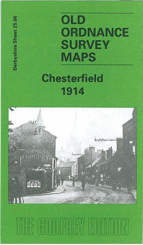OLD ORDNANCE SURVEY MAP CHESTERFIELD 1914 NEW BRAMPTON WHITEHOUSES WEST PARK