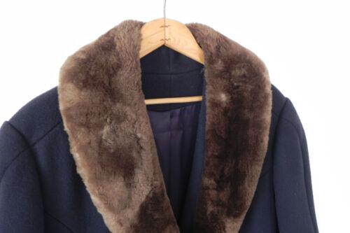 Vtg Coat Collar Shop Manhattan Faux Lord amp; Navy Blue Wool Taylor Sizel 100 The qwr4gqC