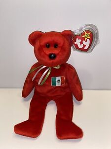 TY Beanie Baby Osito the Mexican Flag Bear *MWNMT*