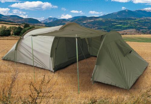 Mil-Tec 3-Personen-Zelt mit Stauram Campingzelt Outdoor Oliv 1,8 x 4,15m Zelte