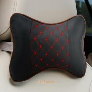 2pcs-Car-Headrest-Pillow-Pad-Car-Automotive-Leather-Seat-Head-Neck-Rest-Cushion