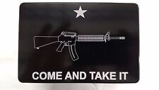 COME AND TAKE IT, AR-15, Billet Aluminum Hitch Cover, 3x5 Made In USA