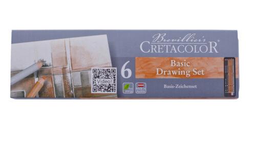 Cretacolor Künstlerstift Zeichnen Skizzieren Aquarell Nero Graphit Skizzierkohle