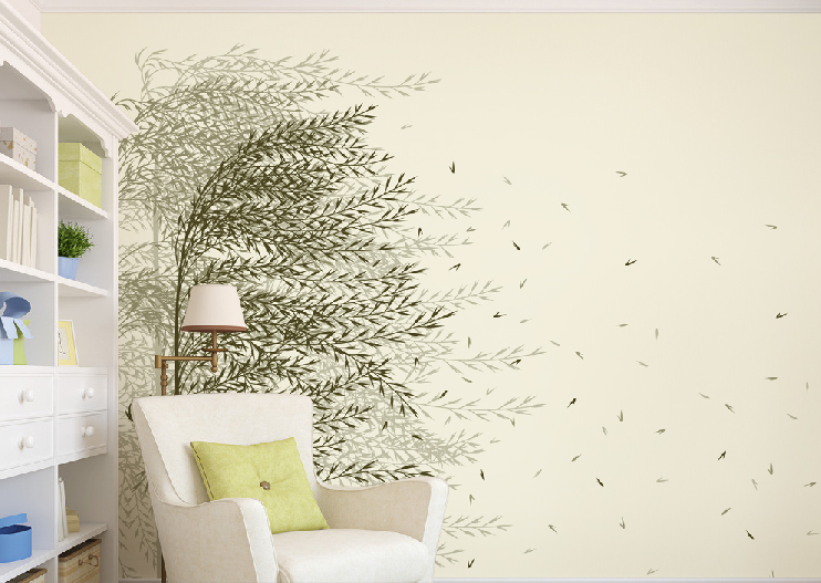 3D Flying Trees Leaves Wall Paper wall Print Decal Wall Deco Wall Indoor Murals