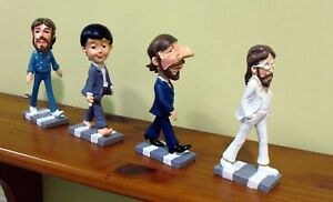 THE-BEATLES-CARTOONS-DOLLS-FIGURES-ABBEY-ROAD-BRAND-NEW-SET-In-Box-GREAT-SET