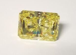 3 ct Canary Emerald Cut Ring Brilliant Top Quality CZ Moissanite Simulant 6