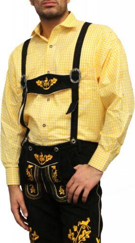 German wear mardi gras /& Carnaval trachtenhemd costumes le costume traditionnel Jaune à carreaux
