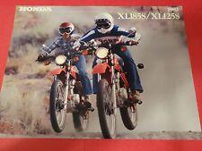 1982 Honda XL185 S / XL125 S Motorcycle Sales Brochure - Literature