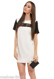 John-Zack-Black-white-Mini-Oversize-Shift-Mini-Dress
