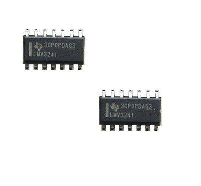 10PCS LMV324IDR Quad Op-Amp Rail to Rail Output SMD
