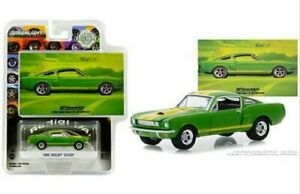 GREENLIGHT-VINTAGE-AD-CARS-1966-FORD-MUSTANG-SHELBY-GT-350-1-64-GREEN-30060