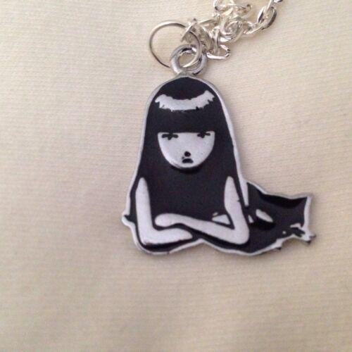 """Emily The Strange /& Cat Enamel 18/"""" Necklace"""