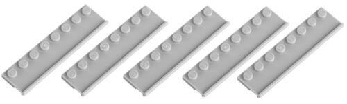 NEW!!! 30586 Lego 5x Light Bluish Grey Plate 2x8 with Door Rail