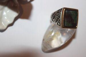 HeißEr Verkauf 50-70% Rabatt 19,1 Mm Ø Silberring Männerring Ring Sterlingsilber 925 Handarbeit Achat 60