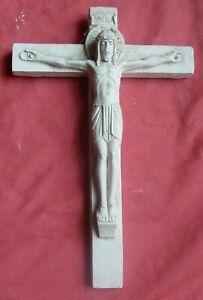 Ancien-crucifix-platre-stuc-croix-Jesus-Christ-20cm