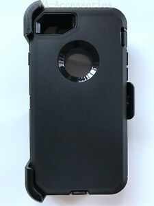 Case-For-iPhone-7-amp-iPhone-8-With-Screen-amp-Clip-Fits-Otterbox-Defender-Black