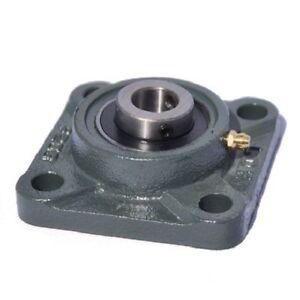 UCF208-40mm-Metrico-4-Bolt-Quadrato-Flangia-Auto-Lube-Alloggiamento-Bearings-Ucf