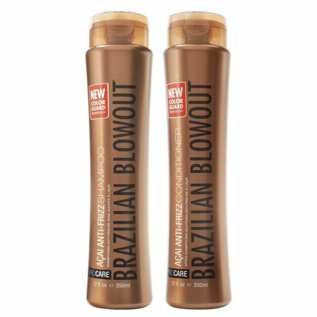 Brazilian Blowout Anti Frizz Shampoo Condtioner With Color Guard 12oz Each For Sale Online Ebay