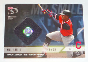 2e1e63d66 FRANCISCO LINDOR 2018 TOPPS NOW INDIANS GAME USED PLAYERS WEEKEND ...