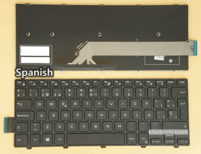 SP Win8 DELL Inspiron 14-3000 5447 5442 5445 7447 Series  FRAME BLACK Keyboard
