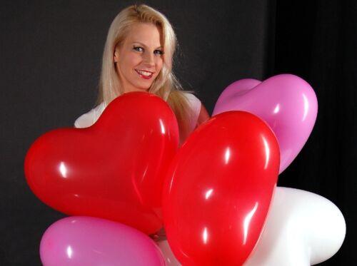 Rouge 3x grand cœur-Ballons Mariage Rouge * 3x Grand Coeur-Ballons 45 cm