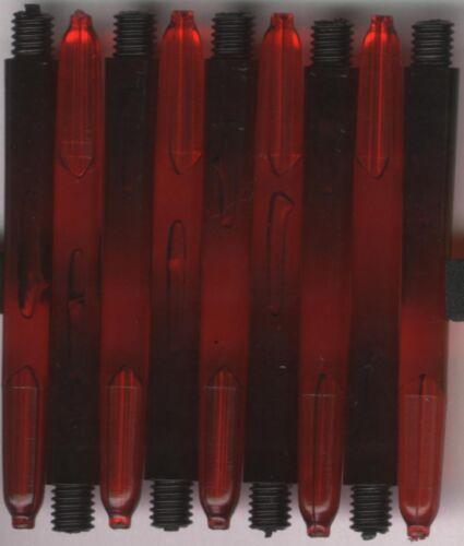 2ba Red//Black MENACE X-Grip Dart Shafts 1 set of 3 2in