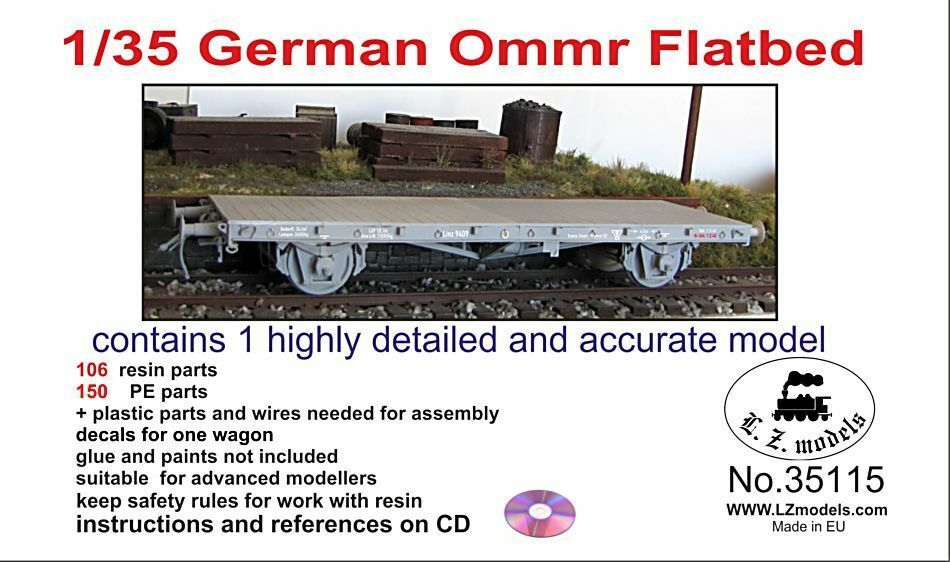 LZ Models LZ35115 1 35 WWII Ommr Flatbed Wagon Full Model kit
