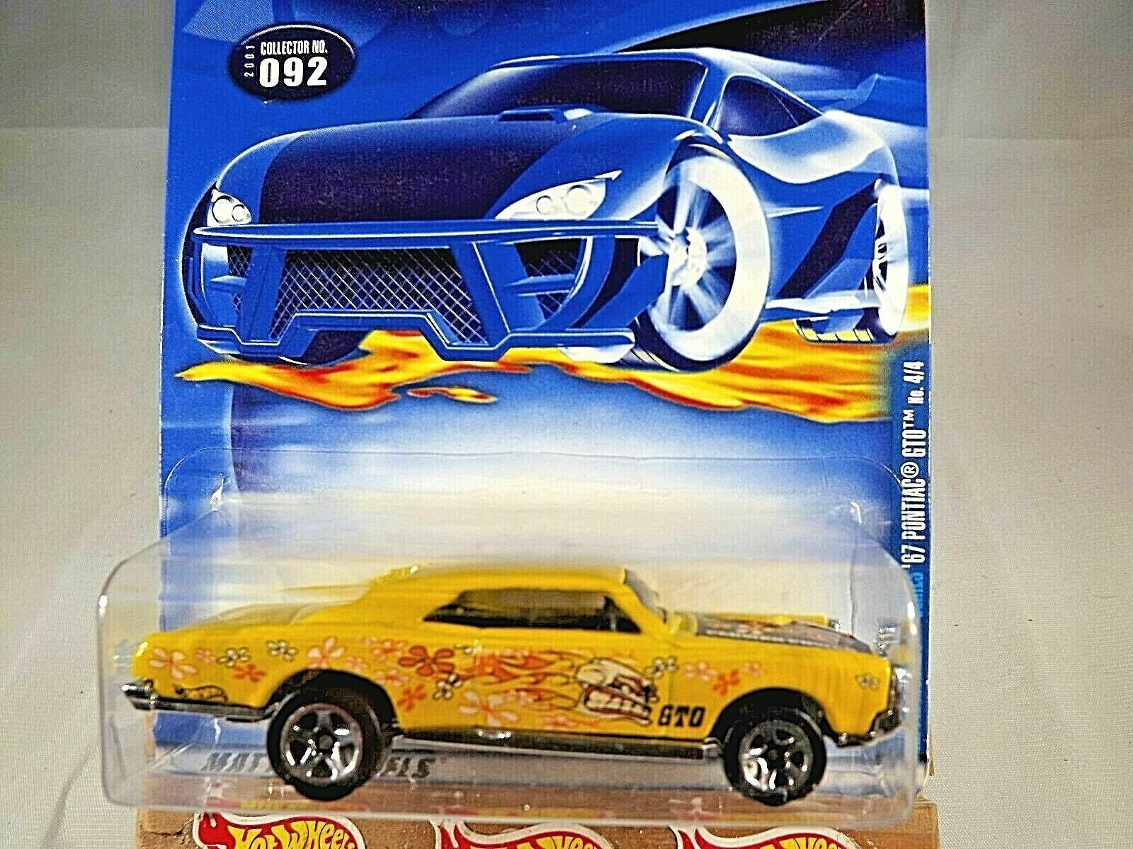 50130 2001 Hot Wheels #92 Hippie Mobiles 4//4 1967 /'67 Pontiac GTO