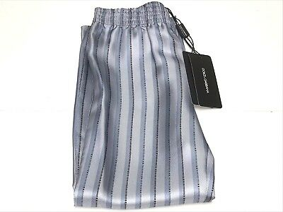 8 RTL $195 L4E400 P437 D/&G New Boys Kids SILK STRIPED LUXURIOUS LOUNGE PANTS Sz