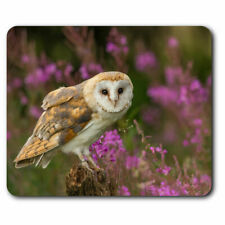 Personalised Barn Owl Mouse Mat Pad Computer Birds Gaming Gift Him Her SH294