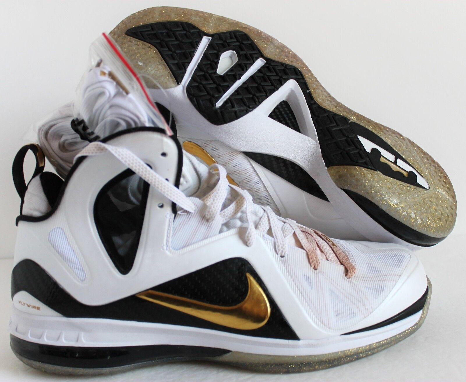 Nike lebron lebron lebron james zu hause 9 s. elite Weiß-gold-schwarz sz 11 [516958-100] 526bae